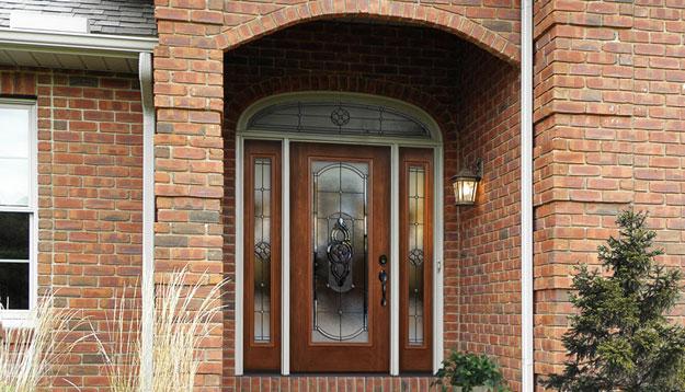 Signet Door with Brick Wall