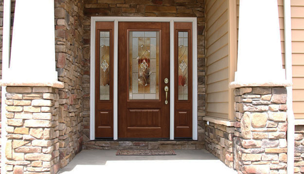 Signet Door Stone Siding